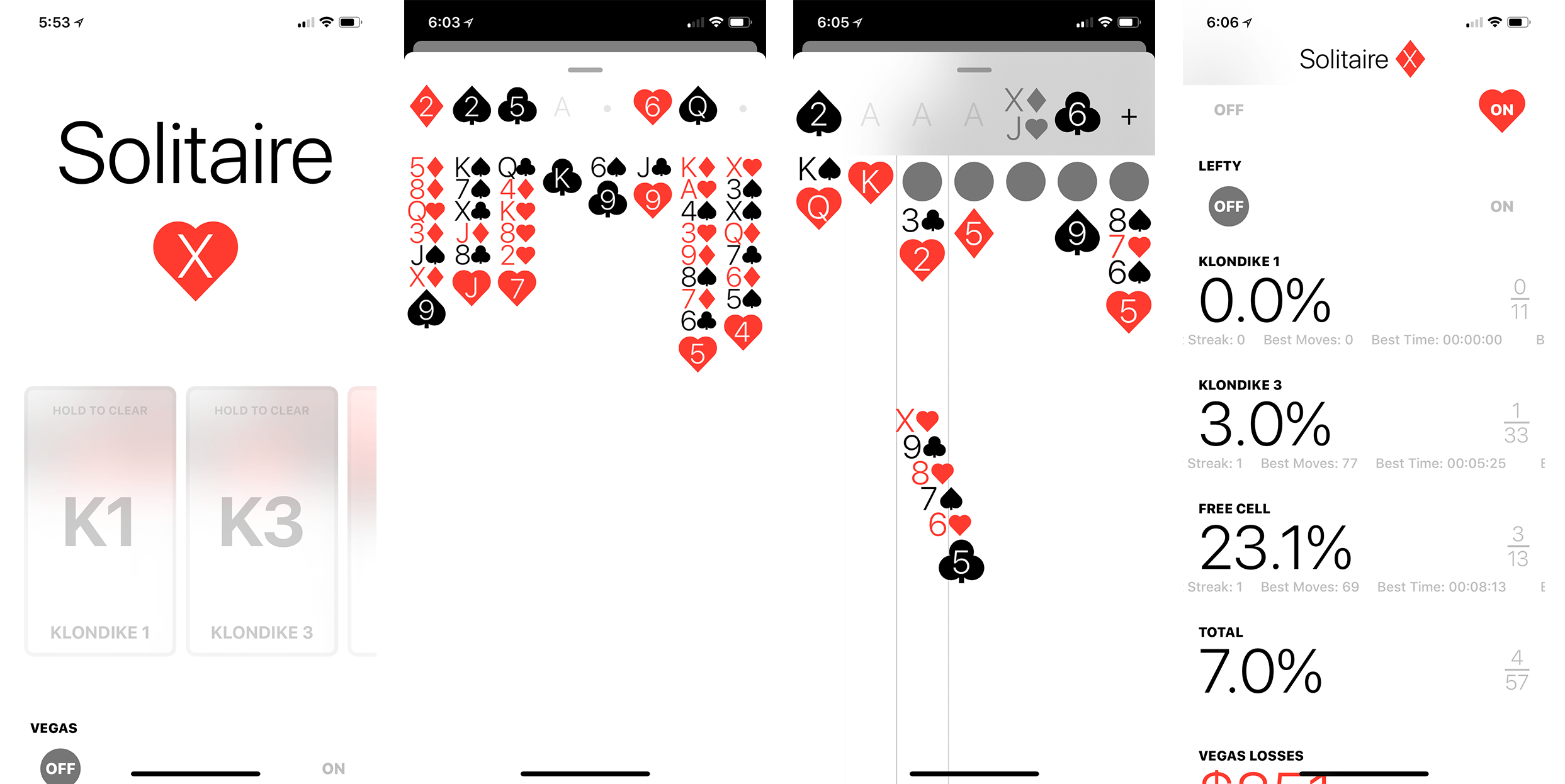 A screenshot from Solitaire 7
